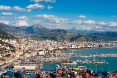 Landscape of the city of Salerno in Italy